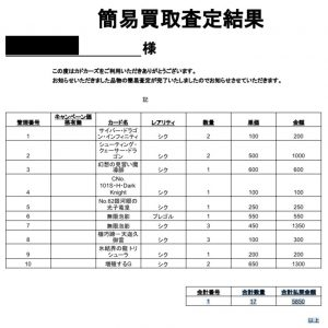 カドカーズ 遊戯王 買取評判9