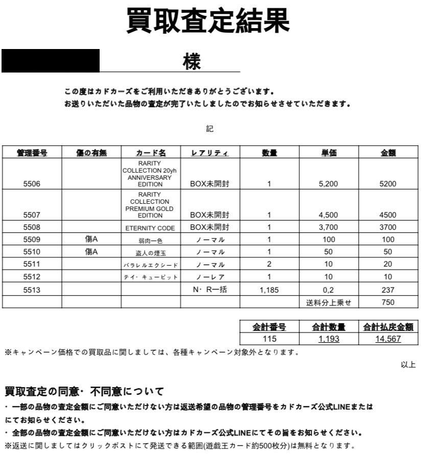 カドカーズ 遊戯王 買取評判25